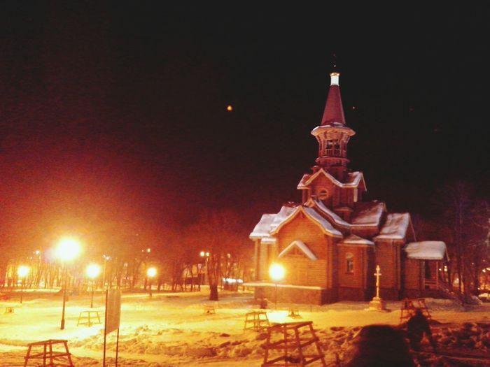 Street Photo Church Winter