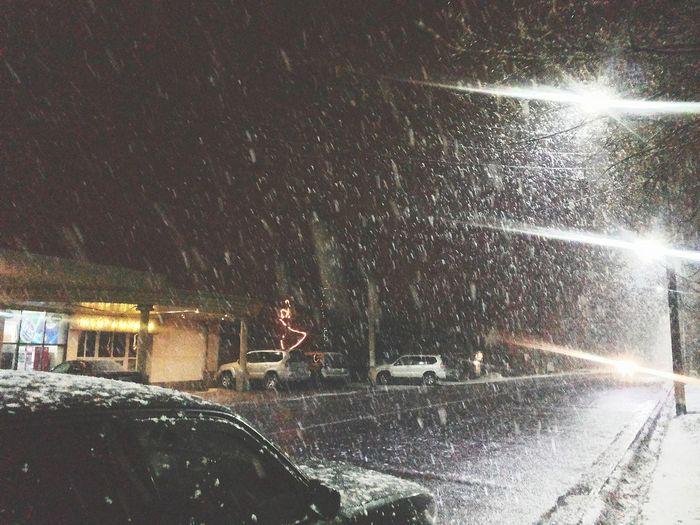 Snow ❄ Taraz снегопад Тараз