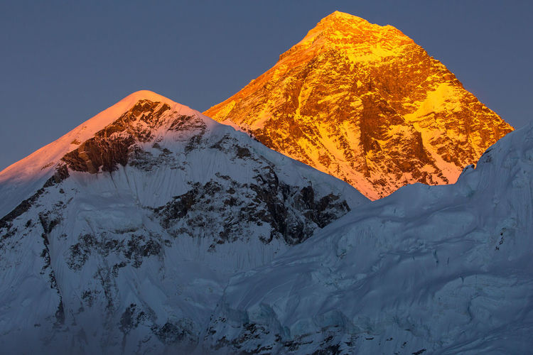 View of mount everest at sunset