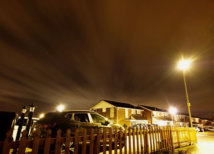 Urban Night Sky Long Exposure Clouds And Stars Architecture Illuminated Night Built Structure Building Exterior Sky Building Lighting Equipment No People House City Residential District Light Light - Natural Phenomenon Street Light Outdoors Street Glowing Cloud - Sky Capture Tomorrow