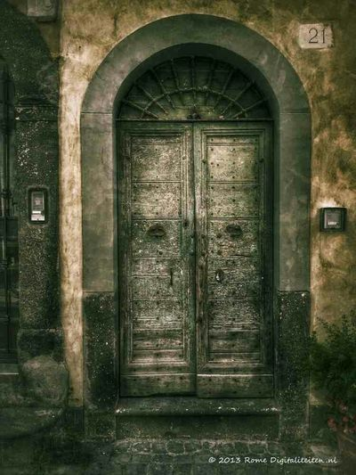 The feeling that this door gives to me is very special to me. One of my most favorite edits. Door Doors Old Door Old Doors Rome In Rome Rome Italy Painterly Mobile Art