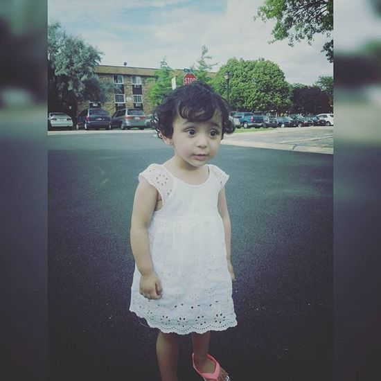 The queen😉 My niece Niece  Kids Kid Street Photography Dress White Queen Princess Hairs Eyebrows Pose Beauty Beautiful Cute Cutness Eyes 👍 Perfect0