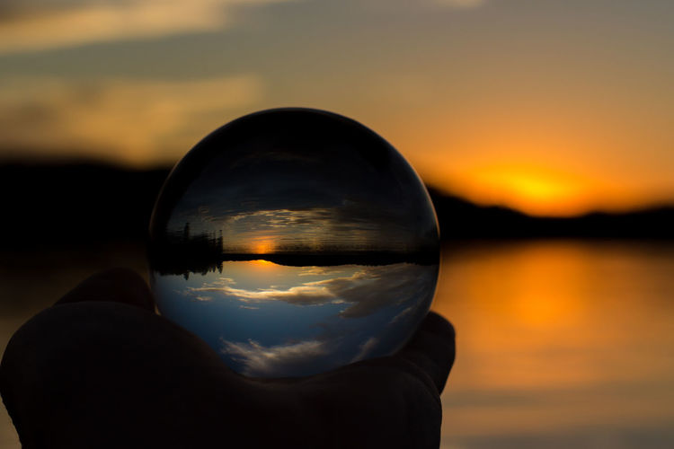 Lens-Ball Sunset EyeEmNewHere Nature_collection Nature Photography Naturelovers Nature_perfection Landscape_Collection Landscape_photography Lensball Glass Ball Cottage Light And Shadow Lake Lake View Lakeshore Lakeside Muskoka Ontario Ontario, Canada Canada Sunset Reflection Water Crystal Ball Close-up Sky Refraction Landscape Beauty In Nature Nature Outdoors