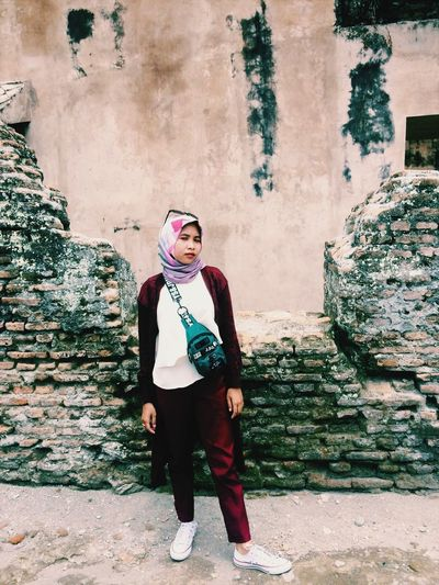 L O L Tamansari Like Yogyakarta ExploreJogjakarta INDONESIA One Person Real People Lifestyles Full Length Standing Leisure Activity Young Adult Front View Day Looking At Camera Clothing Portrait Young Women Casual Clothing Women Wall - Building Feature Beautiful Woman Fashion Built Structure Outdoors