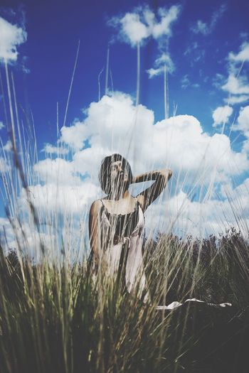 Sky Growth Nature Cloud - Sky Plant Field No People Day Beauty In Nature Tranquil Scene Outdoors Scenics Grass Close-up Animal Themes EyeEm Ready   International Women's Day 2019 Stay Out