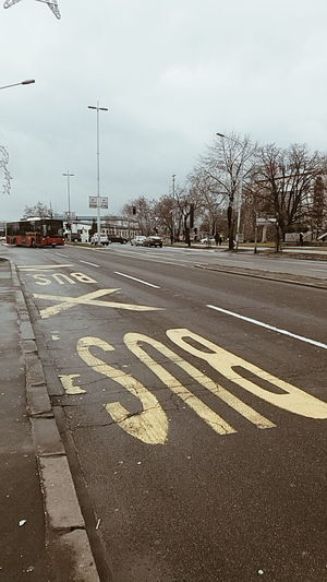 #Belgrade #srbija #beograd #streetphotography #serbia #picoftheday #photography #beautiful Urban Skyline Urbanphotography Urban Geometry Urban Landscape Bus Day Transportation No People Communication Outdoors Road Sign Sky City