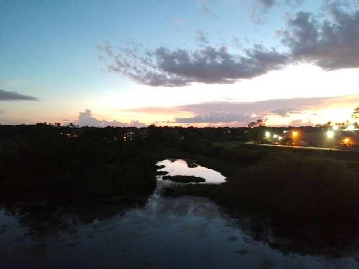 Florida Orlando Metrowest Sky Sunset Water Cloud - Sky Nature Illuminated Scenics - Nature No People Beauty In Nature Dusk Tranquility Plant Tree Tranquil Scene Reflection Architecture Outdoors Built Structure River