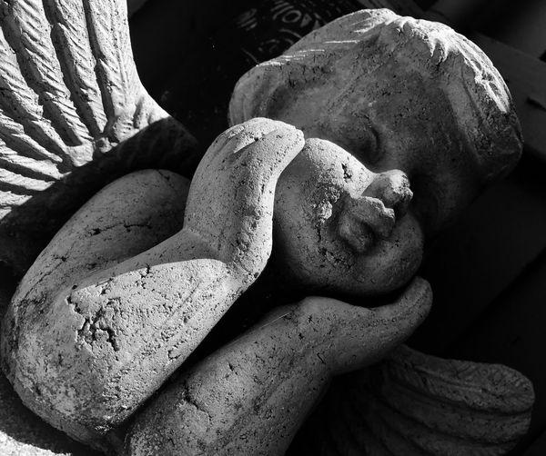 EyeEm Selects Sculpture Cherib Angel Little Angel Blackandwhite