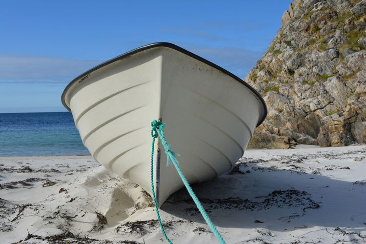 Norway cities Beach Boat Day Environmental Issues Nature No People Outdoors Sand Sea White