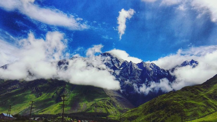 Cloud - Sky Mountain Landscape Nature Sky No People Beauty In Nature Outdoors Georgia Tbilisi Kazbegi Mountains First Eyeem Photo