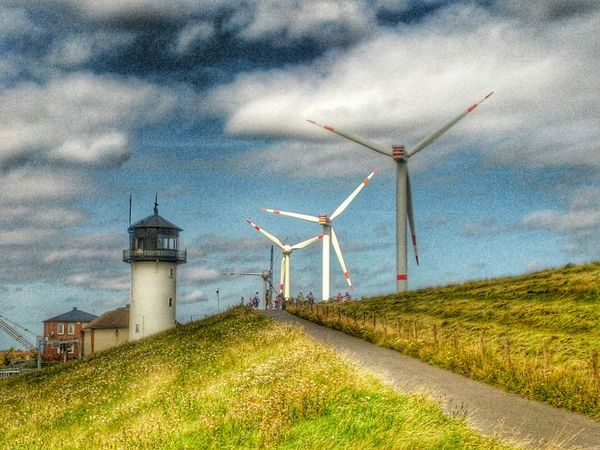 Your Photo For Social Change By PhotoPhilanthropy Lighthouse Wind Turbine Greenenergy