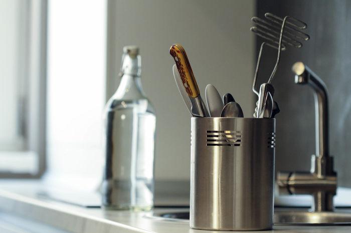 Home Modern Modern Kitchen Bottle Close-up Day Indoors  Interior Design Kitchen Kitchen Art Kitchen Life Kitchen Stories Kitchen Utensil Kitchen Utensils Kitchenware Metal No People