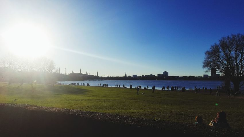 Bluesky Hamburg Alster Außenalster Sunnyday Winter January Water Sky Nature Outdoors Beauty In Nature Day No People