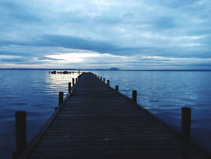 Morgenstimmung Karpfenangeln Carpfishing Pier Water Jetty Wood - Material Tranquility Sea Tranquil Scene Beauty In Nature