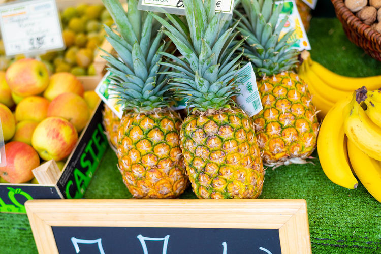 Apple - Fruit Banana Choice Container Food Food And Drink Freshness Fruit Healthy Eating Large Group Of Objects Market Market Stall No People Orange Pineapple Retail  Ripe Still Life Tropical Fruit Variation Wellbeing Yellow