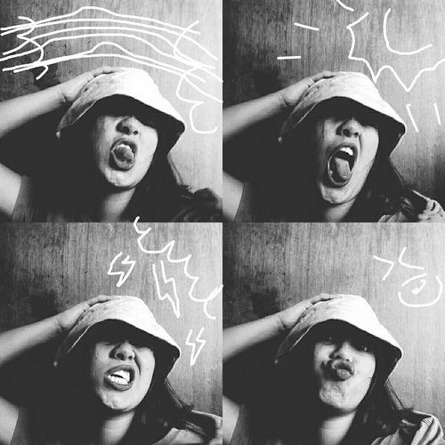 Doodling Selfie ✌ Selfportrait Fourpictures Wacky Faces Edit That's Me Hello World