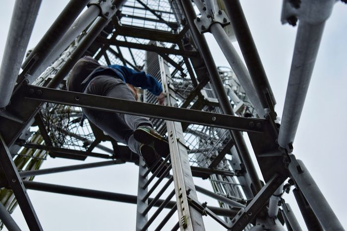 Tower Structure Metal Built Structure Real People One Person Outdoors 3g