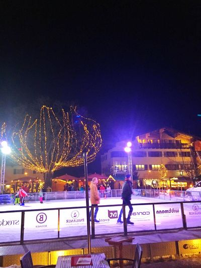 Ice Cold Nightphotography Ice Rink Skater Gapa1516
