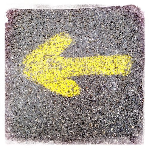 Road marking on road