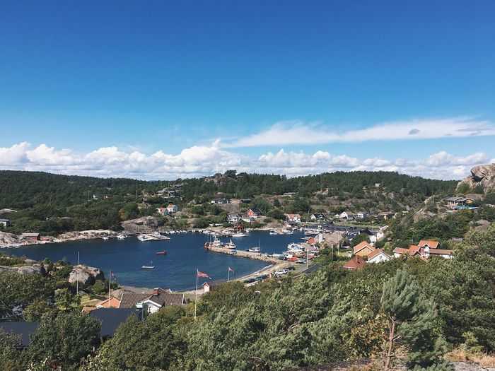 Water High Angle View No People Outdoors Built Structure Blue Scenics Town Landscape Sea Norway Ula Sandefjord Tranquil Scene Harbor