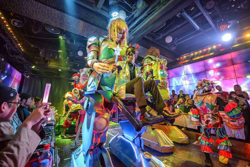 performance at the robot restaurant Adult Arts Culture And Entertainment Colourful Dance Indoors  Indoors  Kabukicho M Multi Colored Music Music Neon Lights Night People Performance Performer  Robot Robot Restaurant Stage - Performance Space