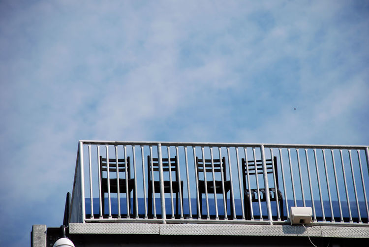 Architecture Sky Built Structure Building Exterior Cloud - Sky Building Low Angle View No People Nature Day Blue Window City Outdoors Pattern Copy Space Industry High Section Sunlight Striped