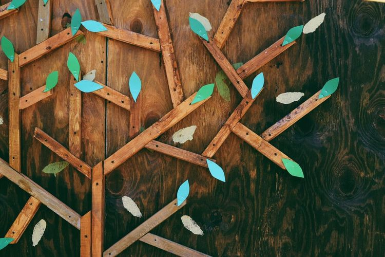Decoration on wooden wall