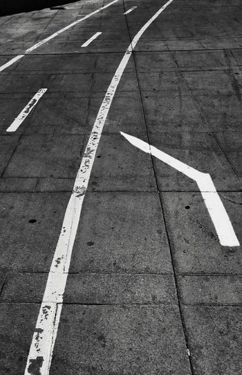 Blackandwhite Road Paint Arrow Wrong Direction Bike Lane Concrete Texture
