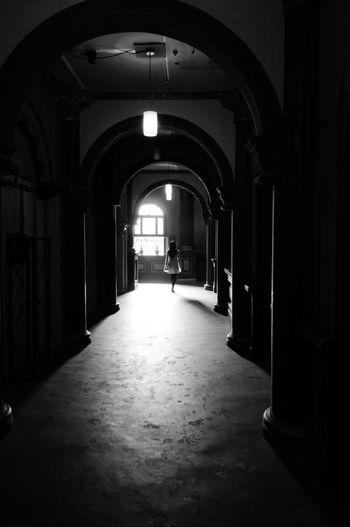 Archway leading to corridor