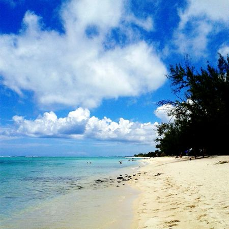 South Mauritius Island  Summertime Ocean View Magic Sky