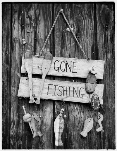 Iphone 6 Plus Richmond BC Vancouver BC Gone Fishing Black & White