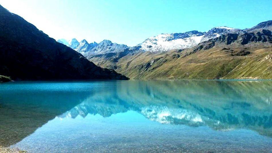 Beauty In Nature Tranquility Mountain Lake Switzerland Valais EyeEm Wallis Lake Moiry light and reflection Eyem Best Shots