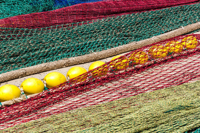 Netting 08 Blue Color Buoys Colorful Detail Fabric Fabric Detail Fishing Green Green Color Harbour Harbour View Harbourside Large Group Of Objects Mediterranean Culture Multi Colored Net Netting Red Red Buoys Red Color Repetition RGB Still Life Textures Yellow Buoy