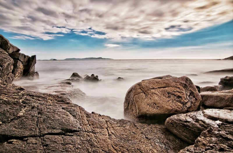 Long experience Cloud - Sky Clouds Long Exposure Galicia SPAIN Water Sky Landscape Rocky Mountains Horizon Over Water Rock Formation Scenics Ocean Geology Rocky Coastline Rock Coast