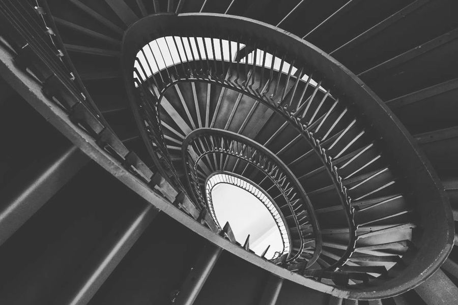 Stairs Blackandwhite EyeEm Best Shots EyeEm Gallery Eye4photography  Railing Built Structure Indoors  No People Day