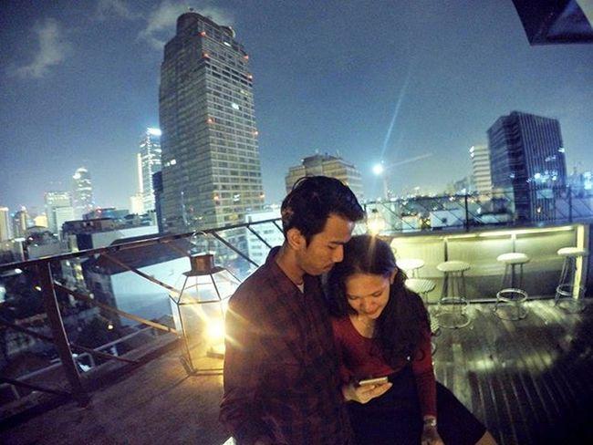 Lighting in the 7th floor Artotel Rooftop