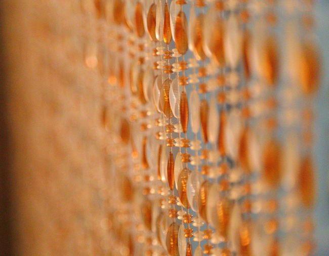 Full frame shot of beaded curtain