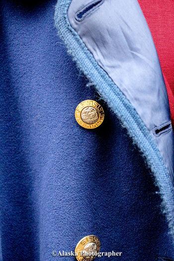 Full frame shot of blue buttons