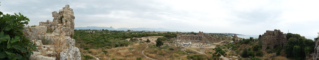 180° view of the State Agora with the byzantine hospital in the background Roman Ruins Roman Empire Roman Architecture Tourism Ancient Ruins Ancient Architecture Ancient Side, Turkey 💗 Side Historical Historic Site History Through The Lens  Tourist Attraction  Tourist Destination Byzantine Architecture Byzantine Byzantine Hospital Sky - Clouds Cloud - Sky Cloudy Sky Cloudy Clouds - Sky