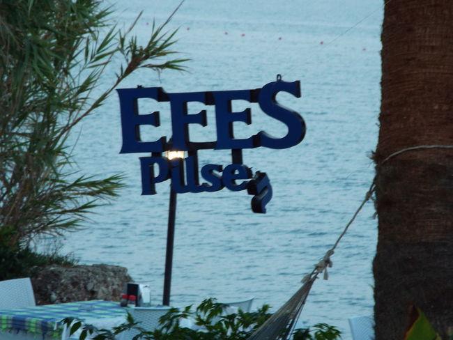Efes Efes Pilsen Efes Pilsen🍺 Sign Broken Sign Trees Sea Mediterranean Sea