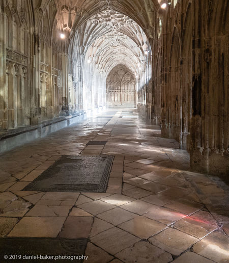 Architecture Arch Built Structure Indoors  History Corridor No People The Past Gloucester Cathedral Cathedral Light And Shadow HDR Harry Potter Fan Vaulting Place Of Worship Tiled Floor Old Medieval Historical Building