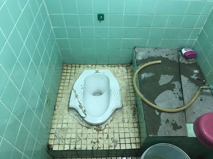 Thailand High Angle View Bathroom Indoors  Domestic Bathroom No People Day I Phone 7 I Phone Architecture Residential Building Indoors  House Architectural Column Interior Design Interior