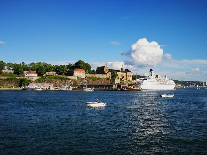 Harbor Oslo Harbor Norway Summer Travel Destinations Day Outdoors Sea Seaside Water Blue Waterfront Built Structure Architecture Vacations