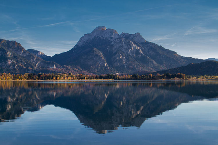 Reflection of mountain in lake