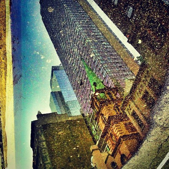 Reflections of NY: Towers and Churches