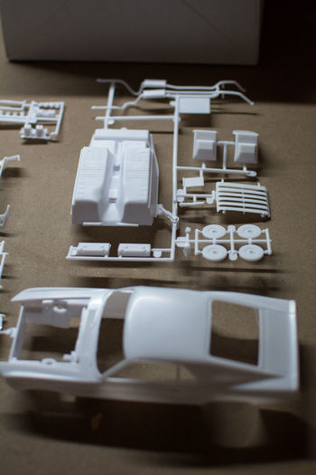 Car Close-up Day Indoors  Mustang No People Parts Plastic Model Table White
