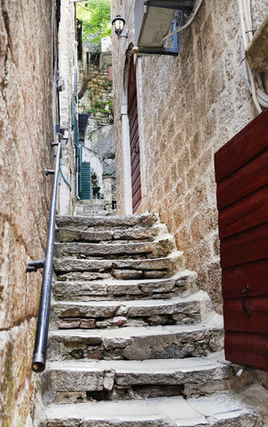 Architecture Attractive Background Building Exterior Built Structure City Day Dubrovnik, Croatia Hand Rail Narrow Street No People Outdoor Outdoors Stairs Stairway Steps Steps And Staircases Stone Stairs Street The Way Forward Tourism