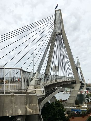 ANZAC Bridge Bridge - Man Made Structure Architecture Engineering Built Structure Connection Sky Cable-stayed Bridge Transportation Steel Cable Sydney, Australia City