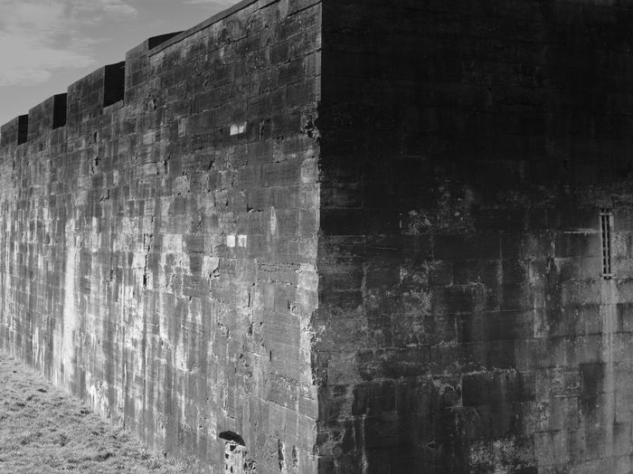 Corner of Southsea Castle Architecture Built Structure Wall - Building Feature Building Exterior Wall Outdoors Building History The Past Old Weathered Pattern Textured  Blackandwhite Black And White