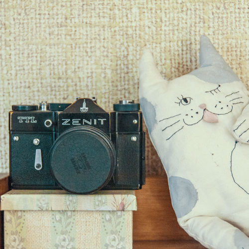 Cat Handmade Ideas Indoors  Memories Old Things Photoaparat Zenit Handmade For You